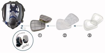 Slika Filtri - za polmaske in celoobrazne maske