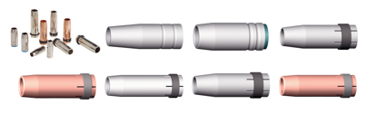 Slika Plinske, konične/cilindrične šobe MIG