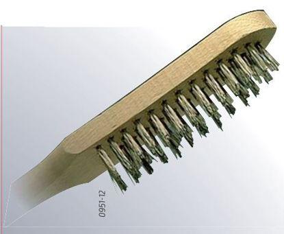 Slika ŠČETKA ŽIČNA INOX ŠTIRI VRSTIČNA
