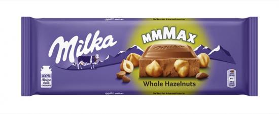 Slika Čokolada s celimi lešniki, Milka, 270 g