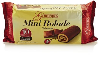 Slika Mini rolade s čokolado, Gorenjka, 280 g